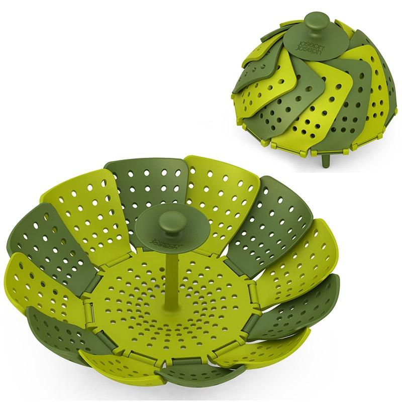 Зеленая складная пароварка Lotus™