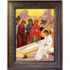 Жёны-мироносицы у Гроба Господня. Икона на холсте