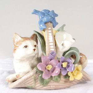 Статуэтка «Кот в корзине»