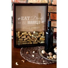 Рамка-копилка для пробок с вашим текстом Be married