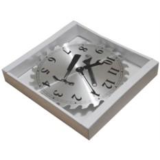 Настенные часы из металла Пила