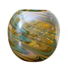 Цветная стеклянная ваза