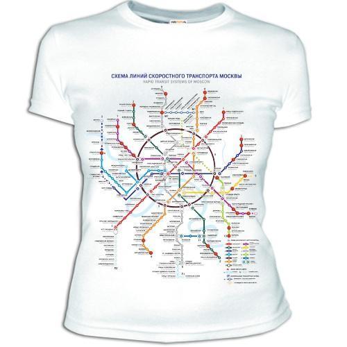 Женская футболка Метро Москвы