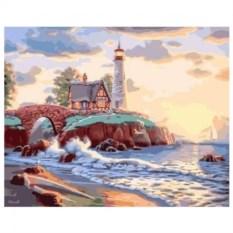 Картина-раскраска по номерам на холсте Маяк