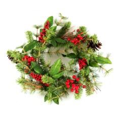 Декоративное настенное украшение Рождественский венок