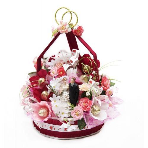 Свадебный букет из конфет Жених и невеста