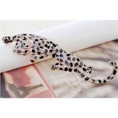 Брошь «Леопард» с эмалью и австрийскими кристаллами