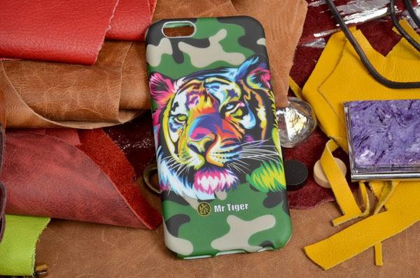 Силиконовая панель-крышка Sparkle для iPhone 6S / 6 Тигр