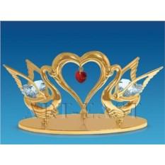 Фигурка Два лебедя с сердцем