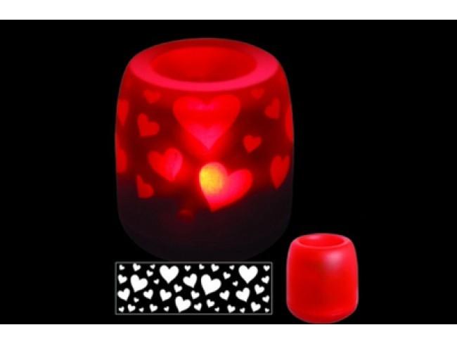 Электронная светодиодная свеча «Задуй меня – Сердца»