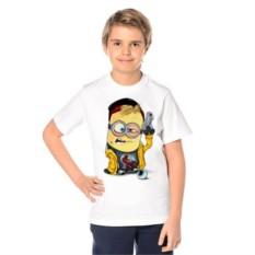 Детская футболка Миньон с пистолетом
