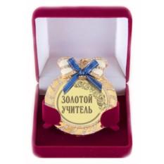 Медаль на цепочке со стразами Учителю