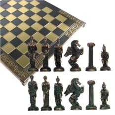 Металлический шахматный набор Илиада