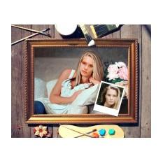 Портрет по фото На диване