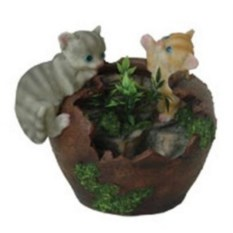 Фонтан с помпой Два котенка на разбитом кувшине