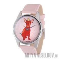 Часы Mitya Veselkov Королевский пес (цвет: нежно-розовый)