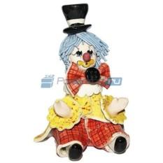 Скульптура Сидящий клоун в цилиндре