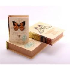 Набор шкатулок-фолиантов Бабочки