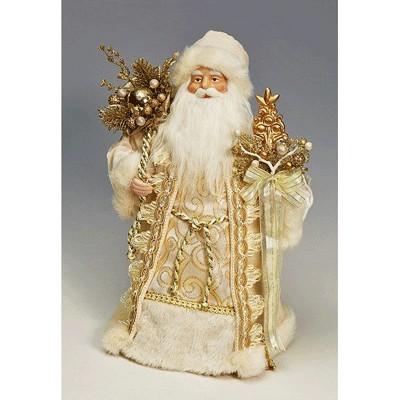 Фигурка Дед Мороз бело-золотой