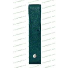 Кожаный футляр для одной ручки Caran d`Ache Amazon Green