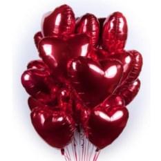 Букет шаров Сердечки