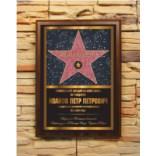 Подарочный диплом-плакетка Звезда на аллее славы