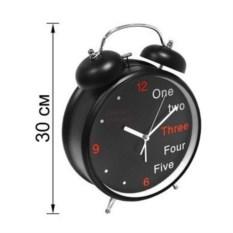 Черные часы-будильник Английский гигант