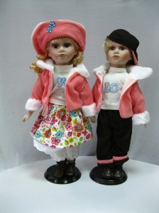 Куклы фарфоровые «Парочка»