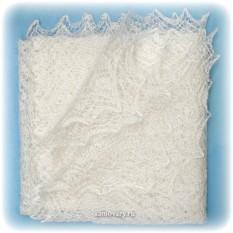 Оренбургский пуховый платок ручной работы плотной вязки
