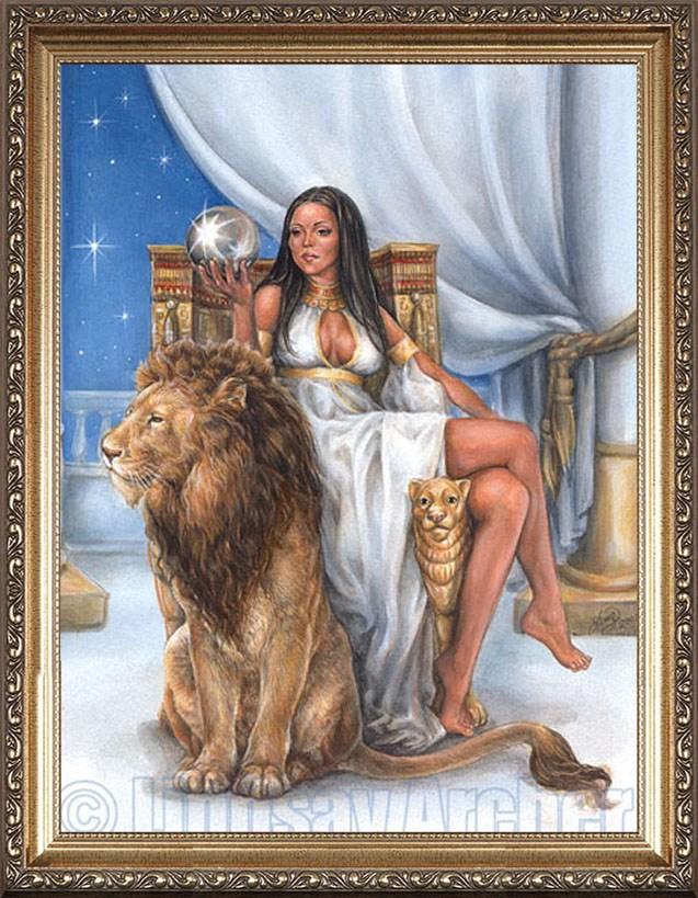 Красивый портрет для женщины-льва
