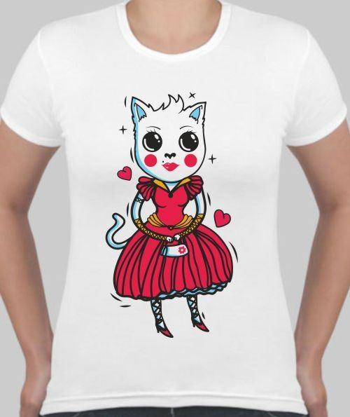 Женская футболка Принцесса-кошка