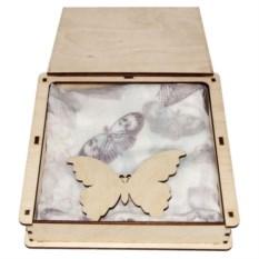 Набор подарочный Бабочки из шарф-платка и подвески