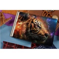 Зажим для денег с принтом Космический тигр