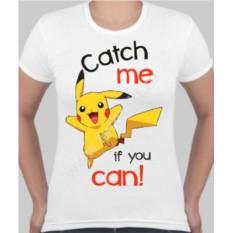 Женская футболка с Пикачу catch me