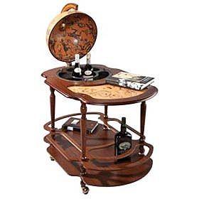 Глобус-бар-столик Classic на колесиках, большой