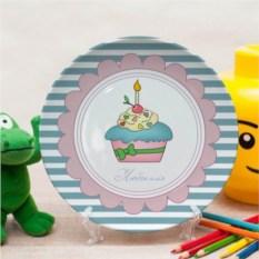 Именная тарелка Праздничный пирог