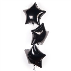 Букет из шаров Черные звезды