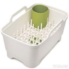 Белый набор из 3 предметов для мойки и сушки посуды