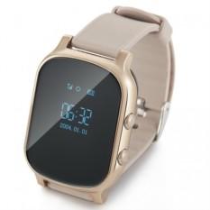 Золотистые детские часы Smart Baby Watch T58