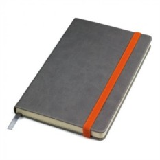 Оранжево-серый в линейку бизнес-блокнот А5 Fancy