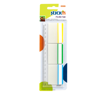 Набор самоклеящихся закладок с цветным краем из пластика