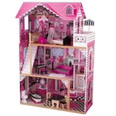 Детский кукольный домик для Барби с мебелью Амелия