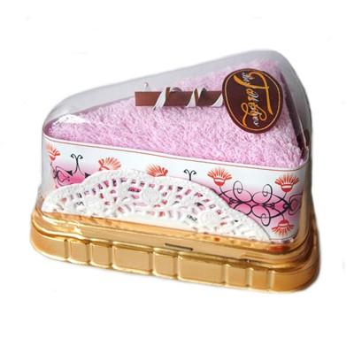 Полотенце-пирожное (розовое)