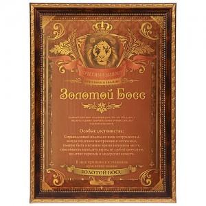 Почетный диплом «Золотой босс»