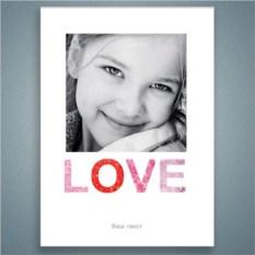 Постер на стену Рамка Любовь