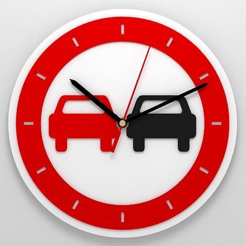 Часы «Обгон запрещен»