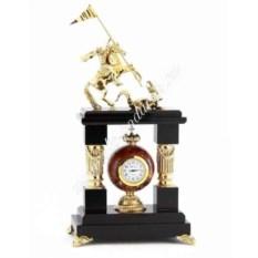 Каминные часы из креноида Георгий Победоносец