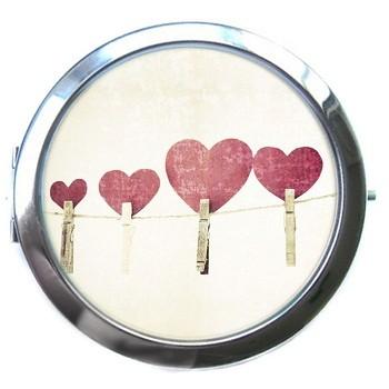 Карманное зеркало «Сердечки»