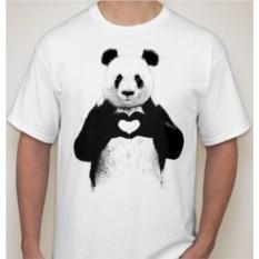 Мужская футболка Панда с сердцем