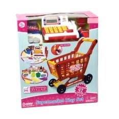 Игровой набор Продуктовая тележка с кассой и продуктами
